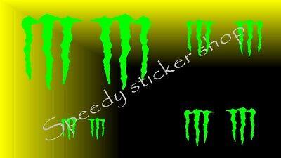 8x monster energy claws kit set car van bike helmet side body stickers decals