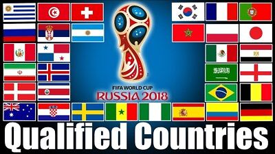 12x18 Wholesale Lot 2018 Qualified Countries World Cup 32 Stick Flags Set