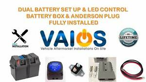 DUAL BATTERY SET UP & LED CONTROL BATTERY BOX & ANDERSON PLUG Brisbane City Brisbane North West Preview