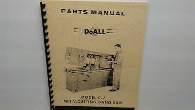 Doall C-7 Metal Cutting Band Saw Parts Manual
