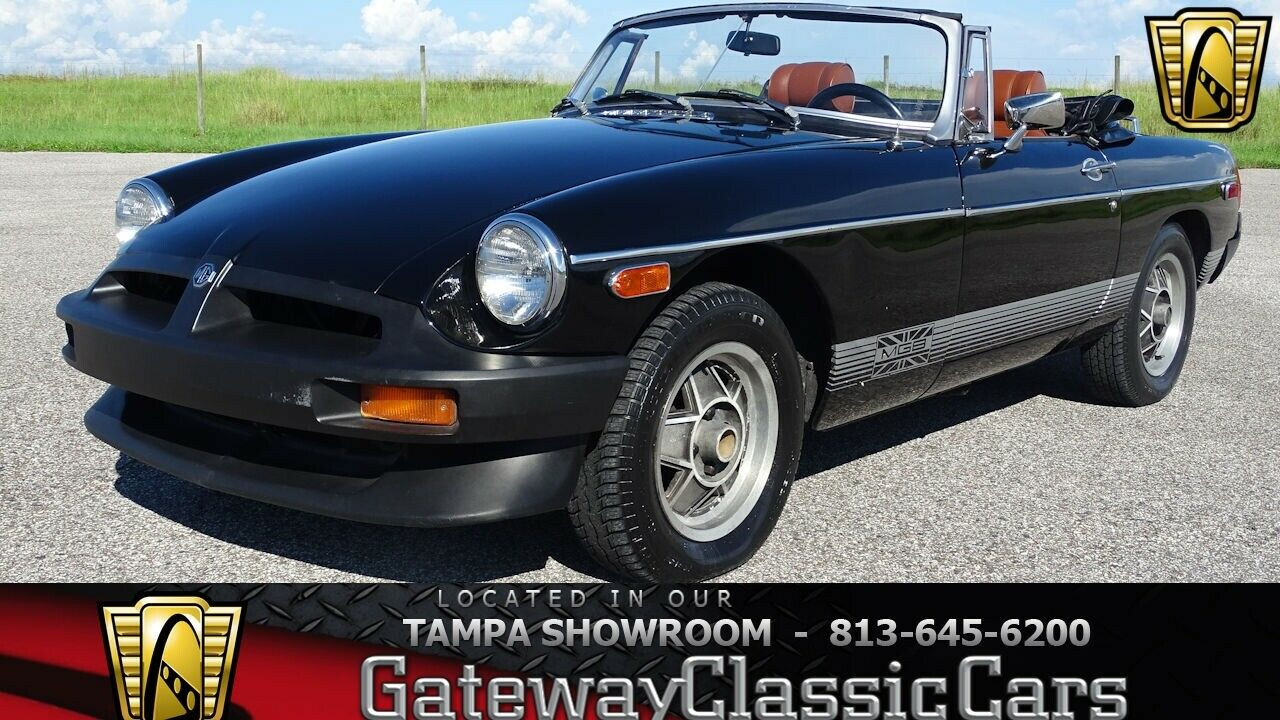 Black 1979 MG MGB Convertible 4 Cylinder 4 Speed Manual with Overdrive Available
