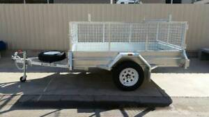 8X5 HEAVY DUTY SINGLE AXLE GALVANISED TRAILER WITH CAGE Pooraka Salisbury Area Preview