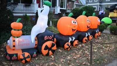 Halloween Air Blown Inflatable BooExpress Ghost Pumpkin Train ](Inflatable Halloween Ghost)