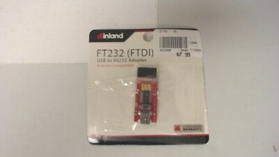 Inland Ft232 Ftdi Usb To Rs232 Adapter Arduino Compatible