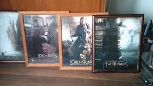Lord of the rings framed pictures Karangi Coffs Harbour Area Preview