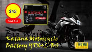 Katana Motorcycle Battery YTX4L-BS Slacks Creek Logan Area Preview