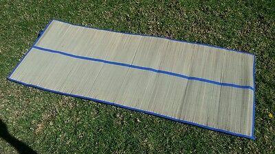 Bamboo straw mat Yoga colored trim beach home floor mat rug camping awning (Bamboo Beach Mat)