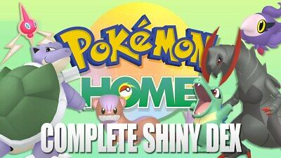 Get +900 Pokemon Shiny with Legendaries Gen 1-7 Legit to Your Pokemon Home