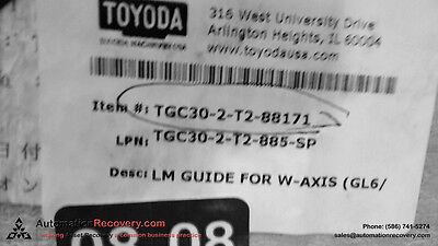 Toyoda Tgc30-2-t2-88171 Lm Guide For W-axis New 118744