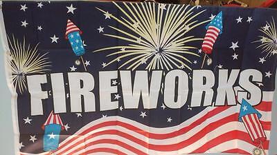 3 x 5 Fireworks Flag