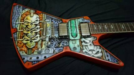 One of a kind Explorer!! By HoldFast Custom Guitars!!