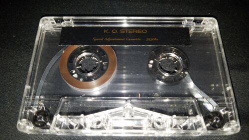 Cassette Deck Speed Calibration Test Tape
