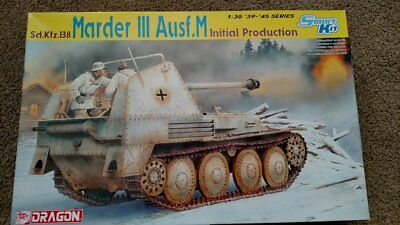 DRAGON TANK # 6464 MARDER III Ausf M Initial Production Kit  1/35 Scale Initial Production Tank