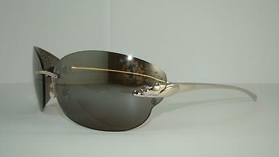 CARTIER PANTHERE T8200848 SMOOTH PLATINUM FINISH SUNGLASSES Grey Mirrored Lens