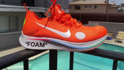 55d3d0a7c053 Off-White x Nike Zoom Fly Mercurial - Total orange volt white -12 ...