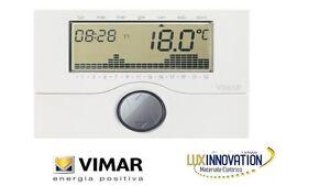 Vimar cronotermostato parete 01913 cronotermostato gsm for Termostato touchscreen gsm vimar 02906