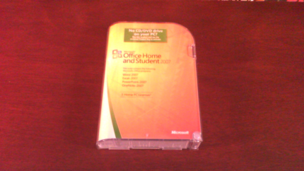 Microsoft Office 2007 Home and Student, with key code, in box