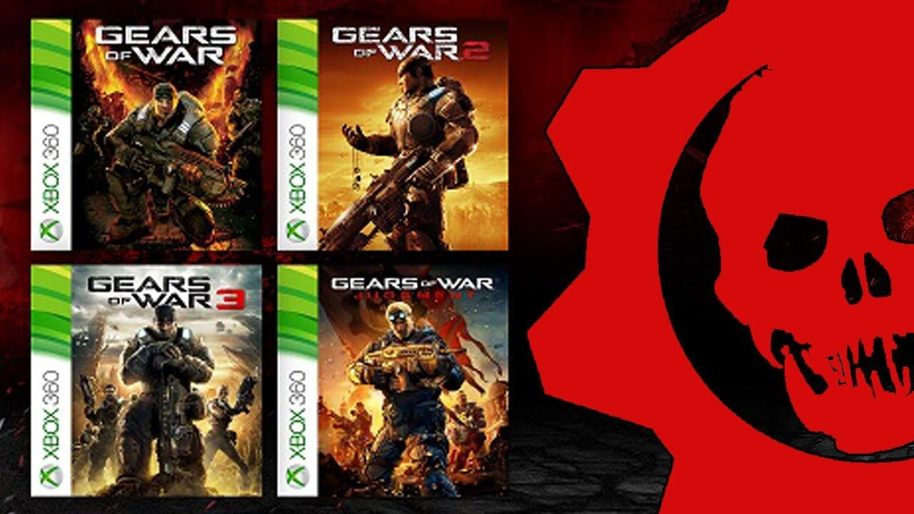 Xbox 360 Games - 4 FULL Games Gears of War 1 2 3 & Judgement XBOX 360 & One DOWNLOAD CARD DLC