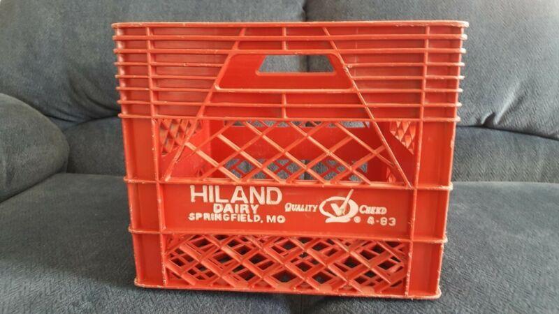 Hiland Dairy Plastic Milk Crate Vintage Red Springfield, Missouri