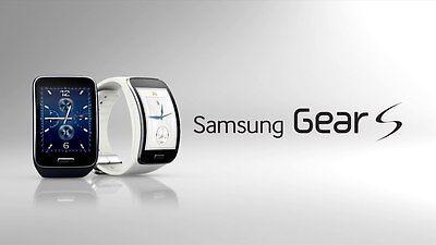 Samsung SM-R750A Galaxy Gear S Black Curved AMOLED Unlocked AT&T Smartwatch