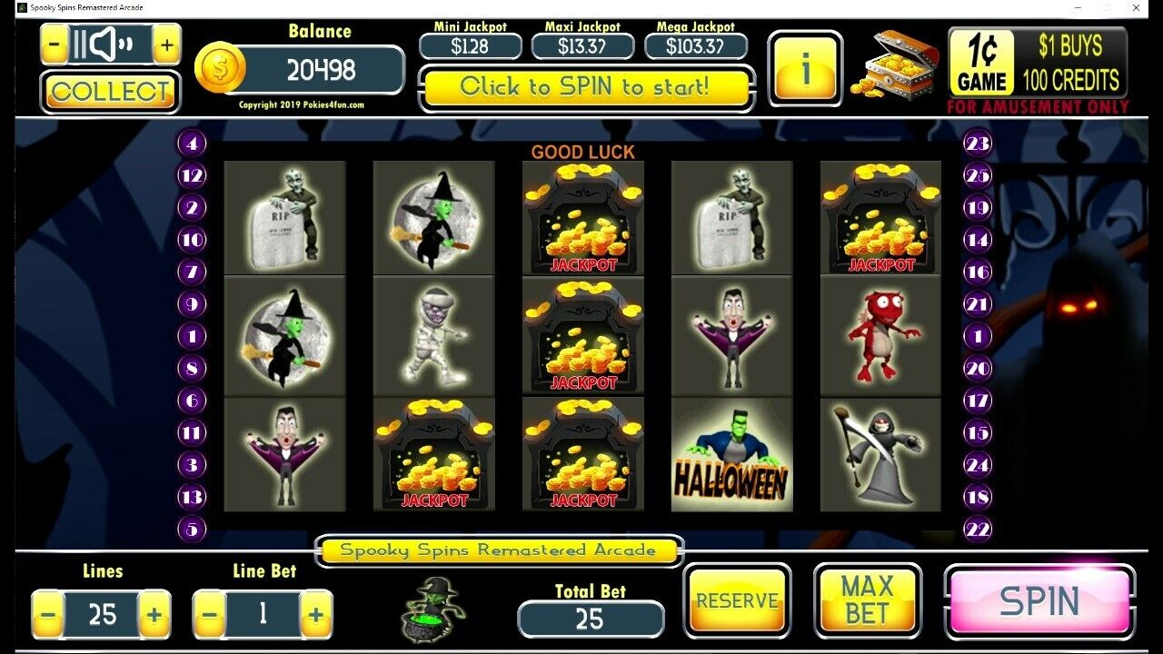 Spooky Spins Slot Machine Cheats