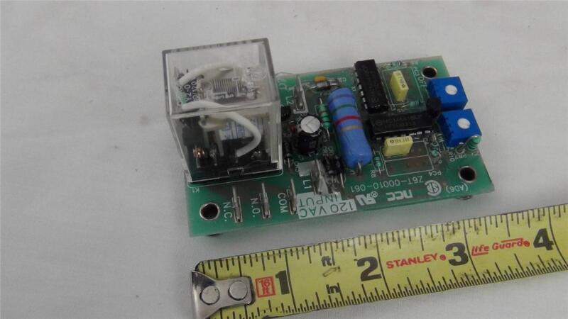 Ametek NCC Z6T-00010-061 Time Delay Relay Board - 120vac - NEW