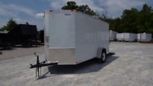 White cargo trailer for sale 2 years old 8 feet alum