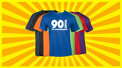 90th Birthday T Shirt Happy Birthday T-Shirt Funny 90 Years Old Tee 7 COLORS