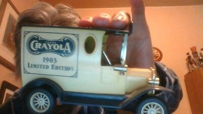 Diecast Piggy Bank Crayola 1903 Limited Edition Car perfect condition