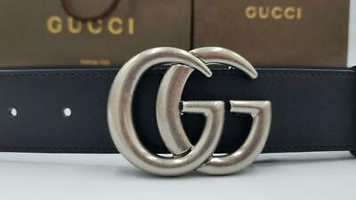 Gucci signature belt with antique silver buckle