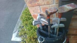 Golf Clubs Brosnan Right Hand Full Set Bag Putters Marsfield Ryde Area Preview