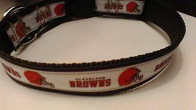 Handmade Cleveland Browns Dog Collar adjustable nylon