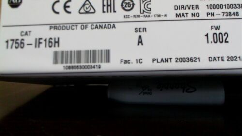 2021 sealed Allen Bradley 1756-IF16H HART