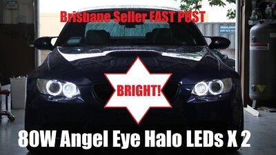 BEST 80W! BMW E87 E90 E92 E93 E70 X5 LED 80W H8 White Angel Eye Halo Rings