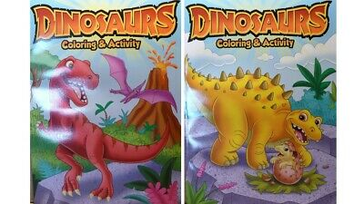 Kids Coloring & Activity Dinosaurs Book Set of 2