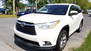 2014 Toyota Highlander LE AWD - 8 PASSAGERS - CUIR/TISSUS + DÉMA