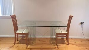 Glass Table + 4 Chairs. North Richmond Hawkesbury Area Preview