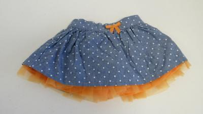 Gymboree Halloween Shop 2014 Chambray Polka Dot Skirt Ruffle 6-12-18 2T 3T4T NEW (Polka Dot Skirt Halloween)