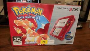 Nintendo 2DS Pokemon Red Version 20th Anniversary