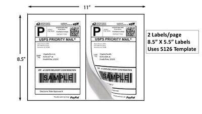 200 Premium 8.5 X 5.5 Half Sheet Self Adhesive Shipping Labels Made In Usa