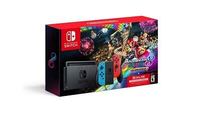 Nintendo Switch Console Mario Kart 8 Deluxe Bundle w/ Neon Blue/Red Joy-Con NEW