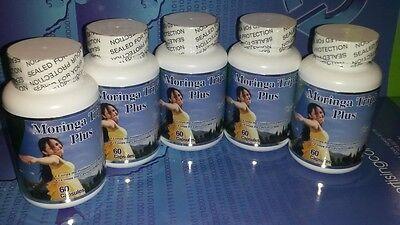 5 Moringa Triple Plus 180 Caps 1000mg 100% Organic, Veget...