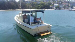 29' Ex-Navy Timber Launch Bondi Beach Eastern Suburbs Preview