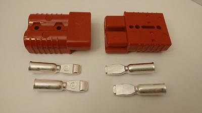 2 Connectors Plugscontacts 0awg Sb175a-600v Forklifts Boats 4x4