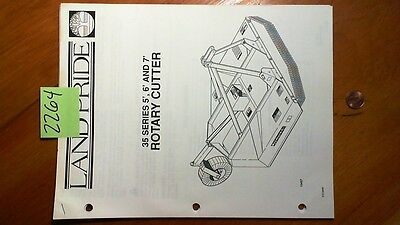 Land Pride 35 Series 5 6 7 Rotary Cutter Owners Operators Manual W Parts