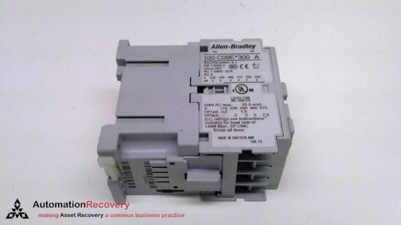 Allen Bradley 100-c09ej300, Series A  Iec Contactor, New* #221201