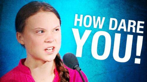 "GRETA THUNBERG ""HOW DARE YOU?"" FRIDGE MAGNET 5"