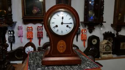 Philipp Haas & Sohne Mahogany Balloon Mantle Clock