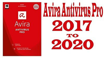 Avira Antivirus Pro 2017  License Key   1  Pc   3 Years   Authorized Reseller