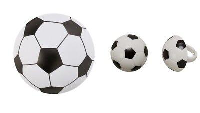 Soccer Ball Pop Top Cake Topper PLUS 24 3D Soccer Ball Cupcake Rings - Soccer Cupcake Toppers